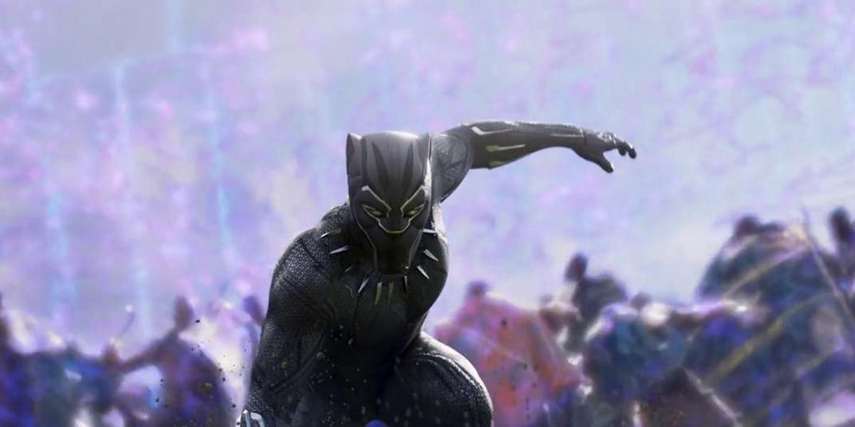 Black Panther suit in 2018 film