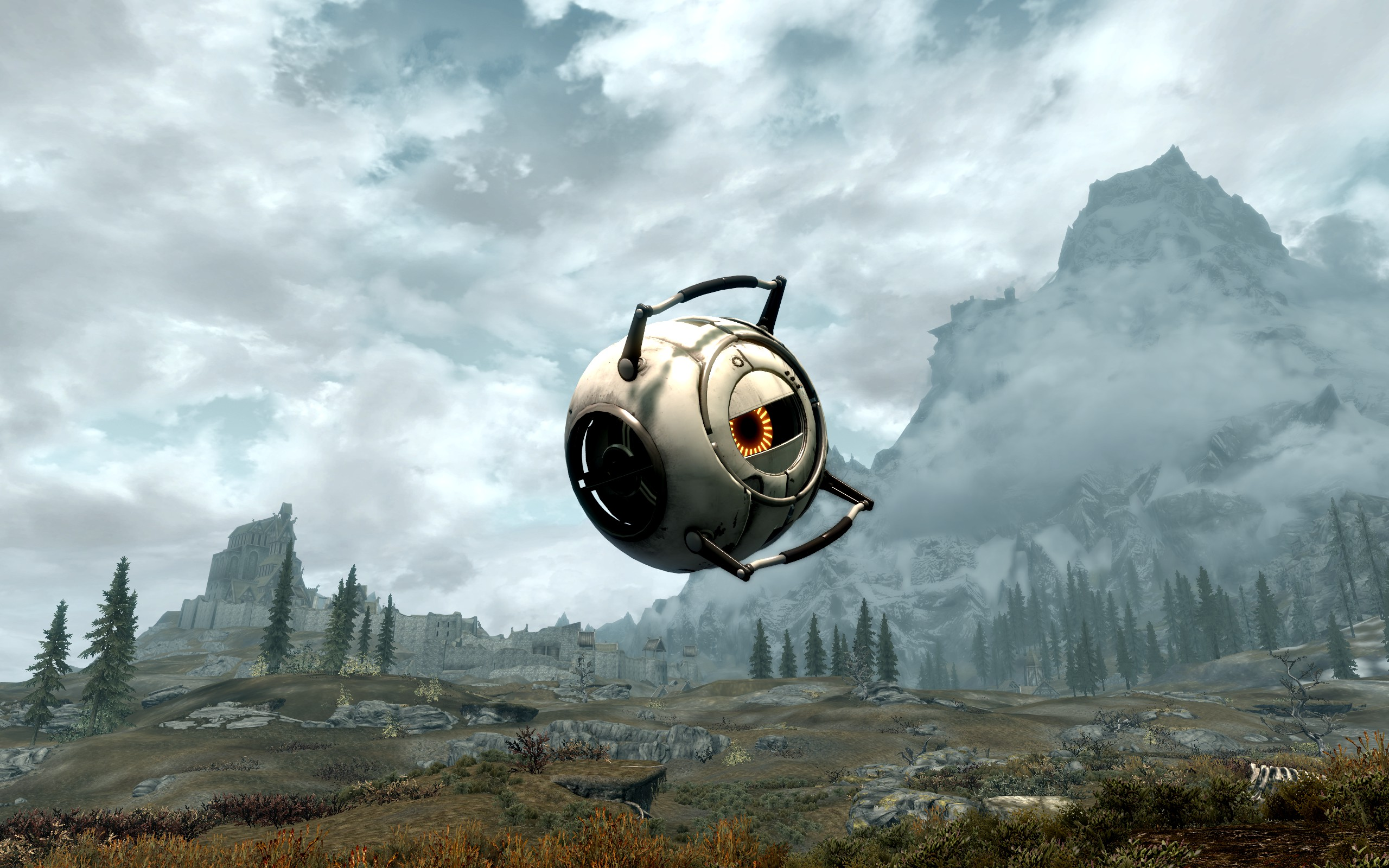 the best skyrim mods: fall of the space core