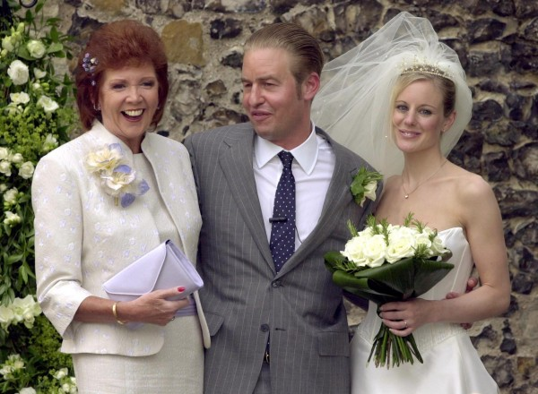 Cilla Black, son Robert Willis and his wife Fiona