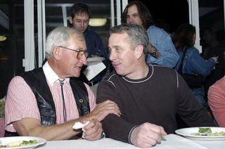 Eddie B and Greg LeMond in 2004