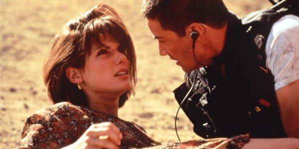 Sandra Bullock and Keanu Reeves in Speed