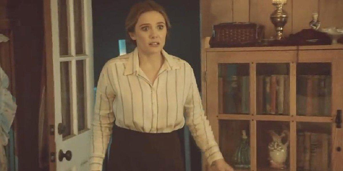 Elizabeth Olsen in her episode of Drunk History.