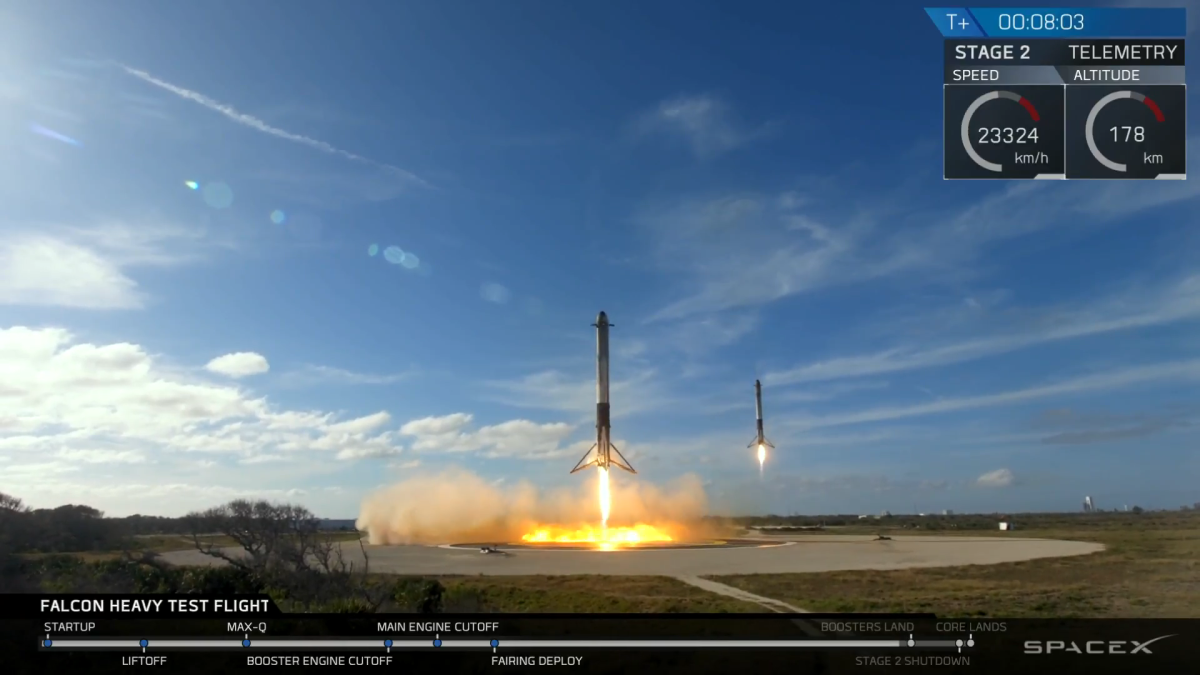 Success! SpaceX Launches Falcon Heavy Rocket on Historic