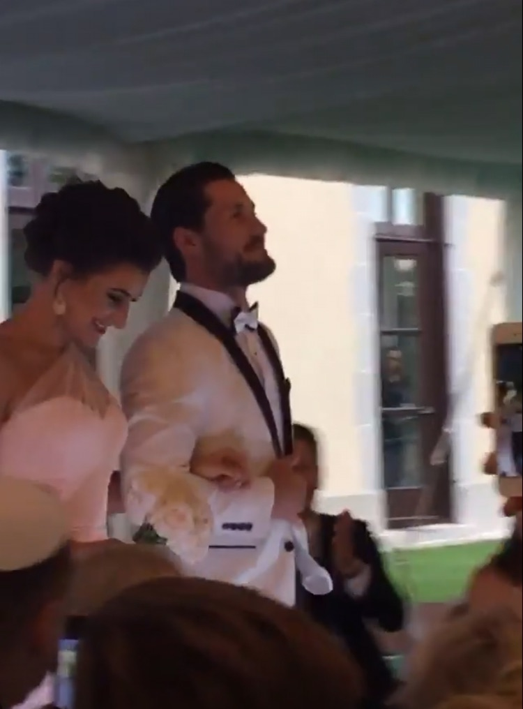 Maksim Chmerkovskiy wedding via Nyle DiMarco