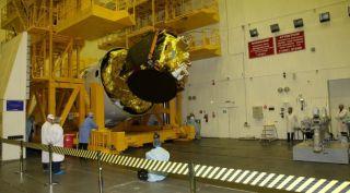 Angosat-1 seen prior to launch.