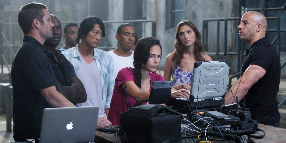 The Fast and Furious crew in Fast Five