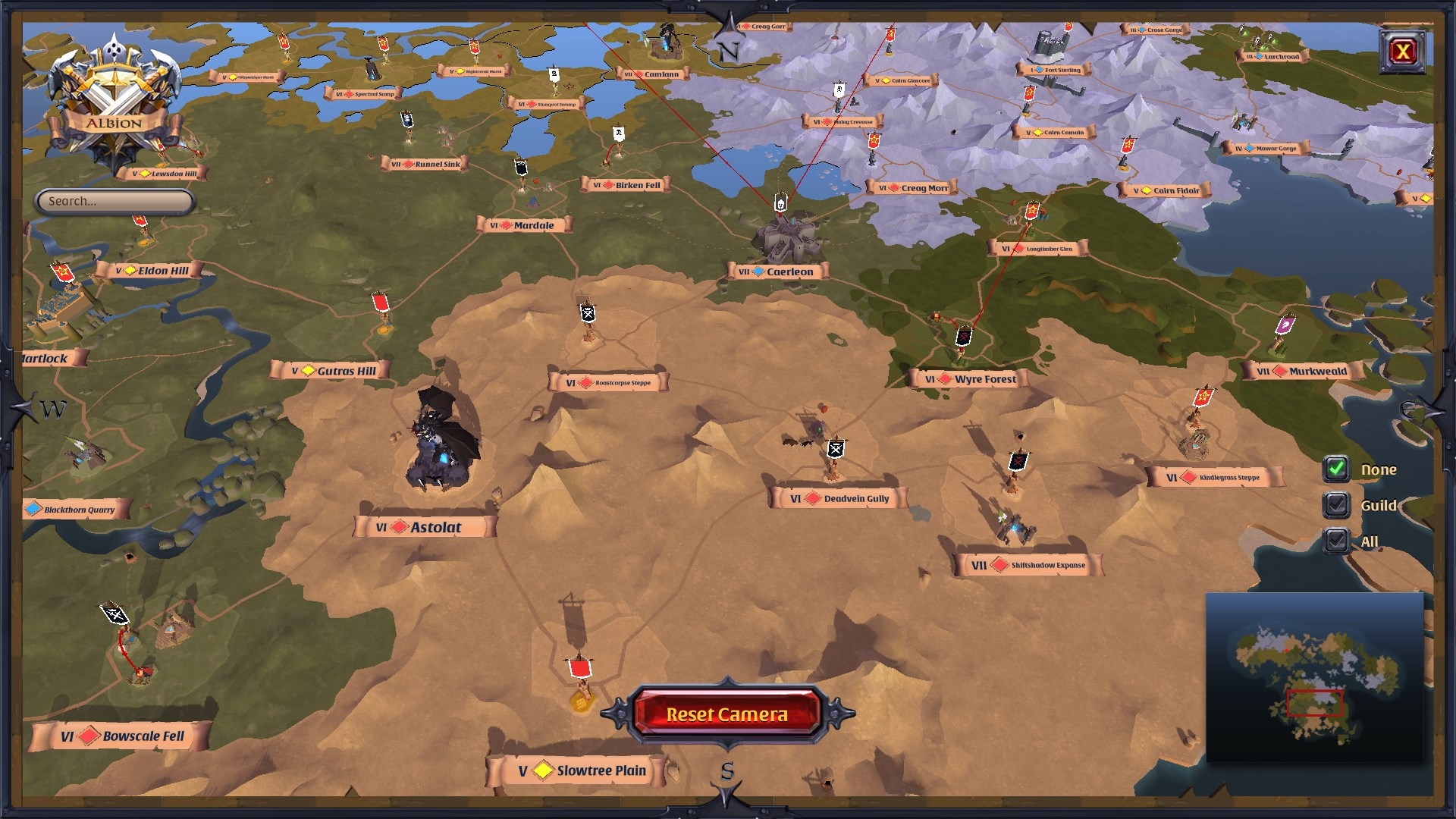 Albion Online World Map 7801 Infovisual