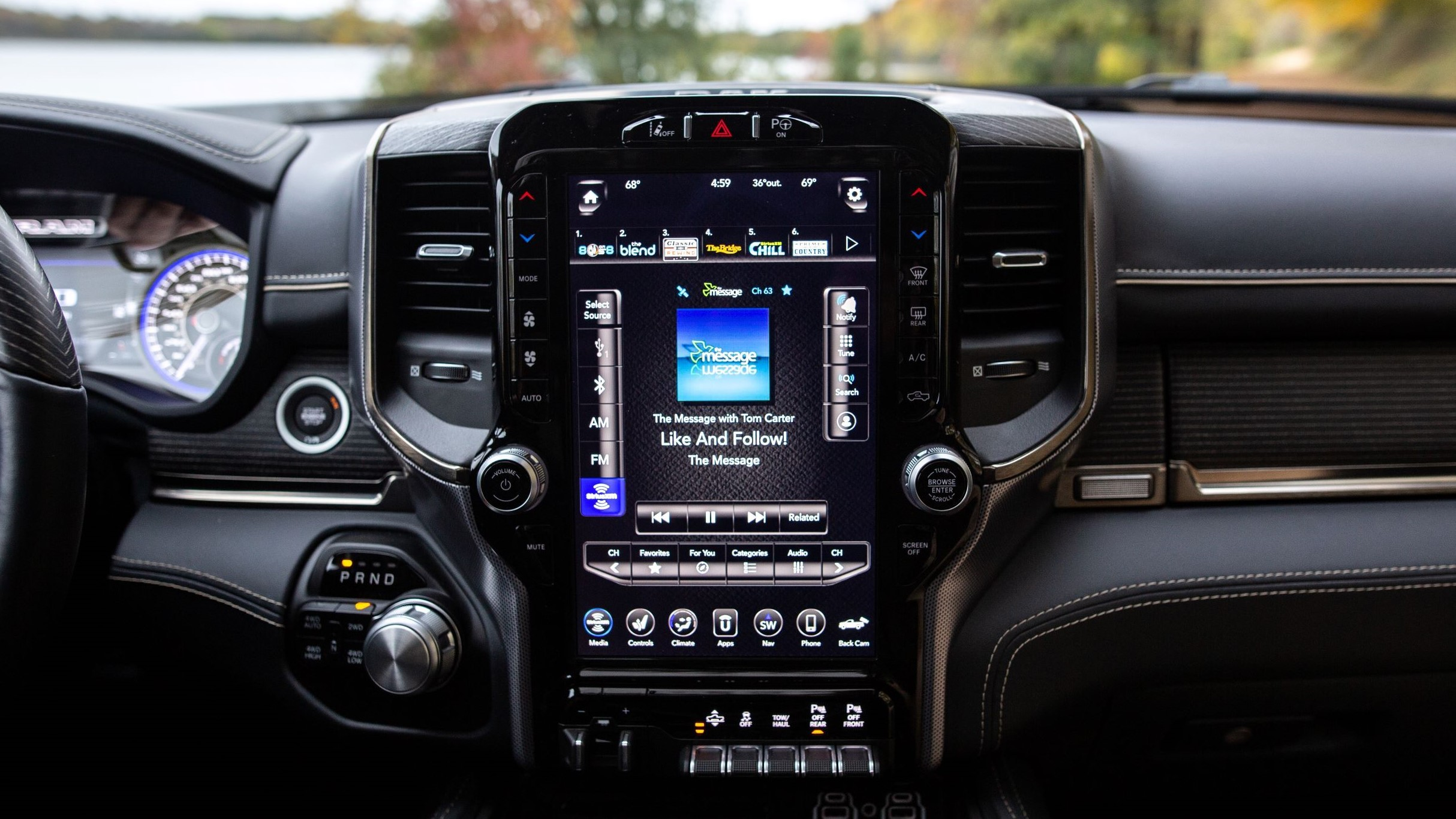 So, about that massive 12-inch screen on the 2019 RAM 1500 pickup