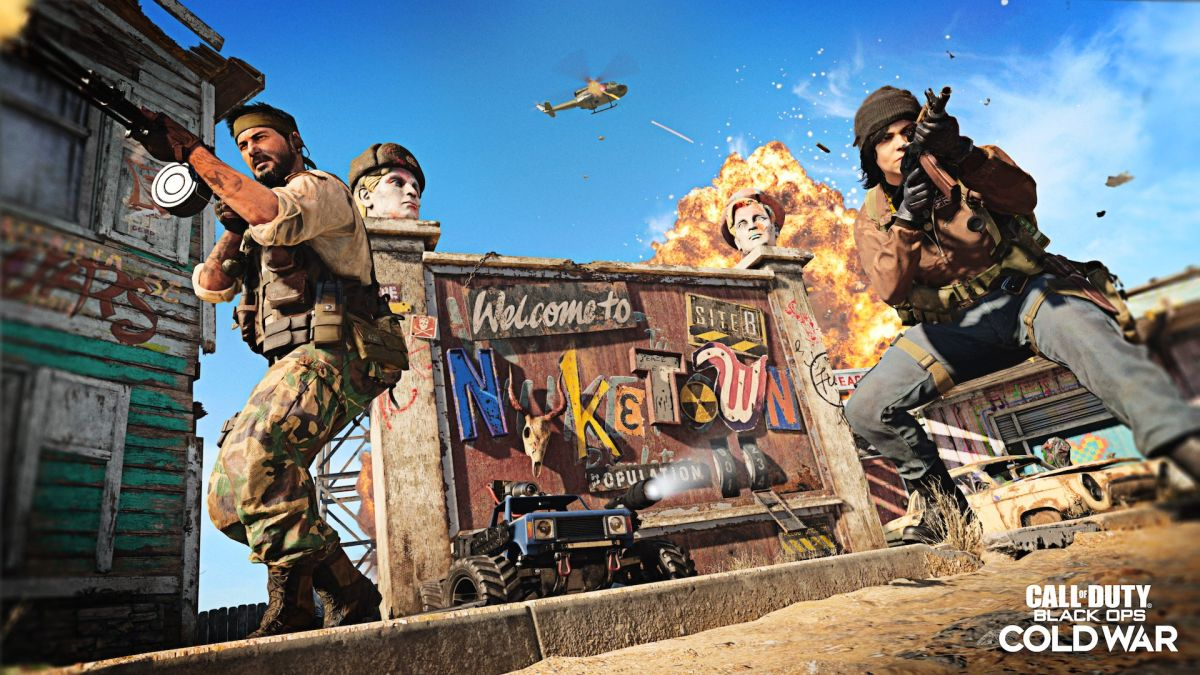 j7rC4kuYF5CdeUPz9yLxFc 1200 80 Nuketown 84 easter egg leaks ahead of map's release for Call of Duty: Cold War An image of Call of Duty Black Ops COld War's Nuketown 84 map.