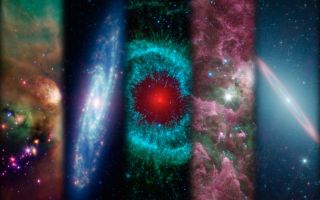 Spitzer Space Telescope Montage Ten Years