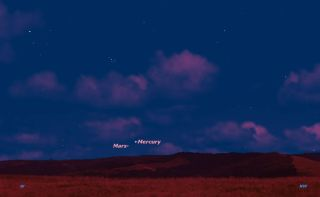 Mars and Mercury, April 22, 2015