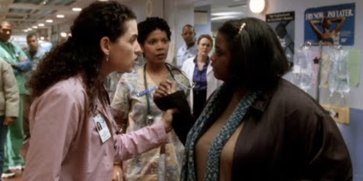 Julianna Margulies and Octavia Spencer on ER
