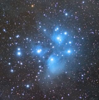 Pleiades The Seven Sisters Star Cluster Space