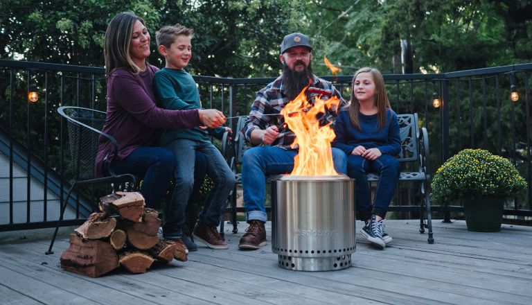 family with solo stove