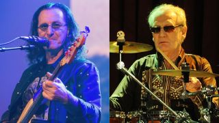 Rush's Geddy Lee and Ginger Baker
