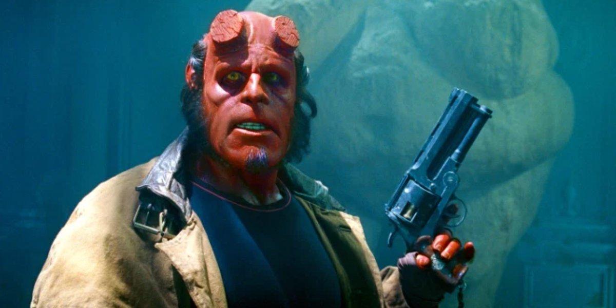 Ron Perlman in Hellboy