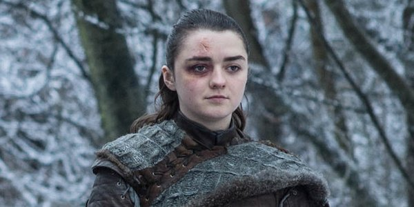 arya stark walking with the hound game of thrones season 8