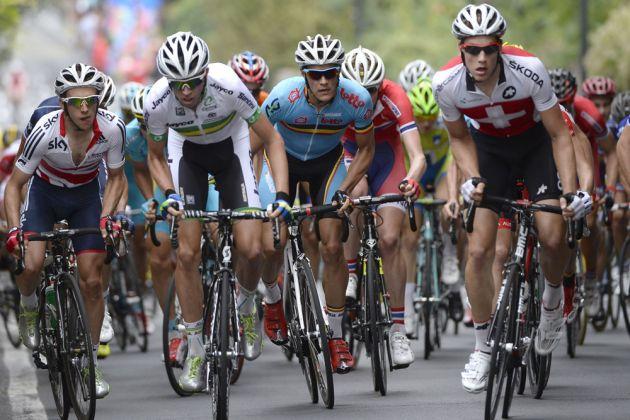 Simon Yates on Stuyven climb, Under-23 men's road race, Road World Championships 2013