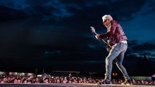 Rudolf Schenker of Scorpions performs on stage during Bloodstock Festival 2019