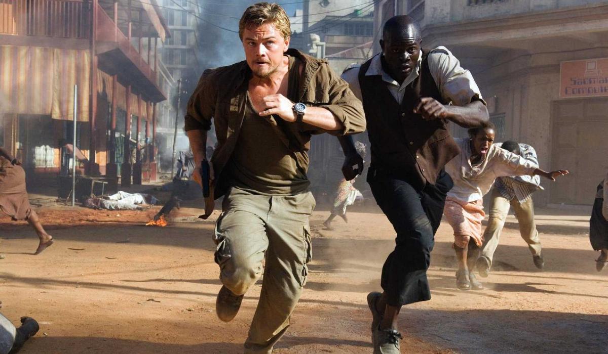 Blood Diamond Leonardo DiCaprio and Djimon Hounsou running