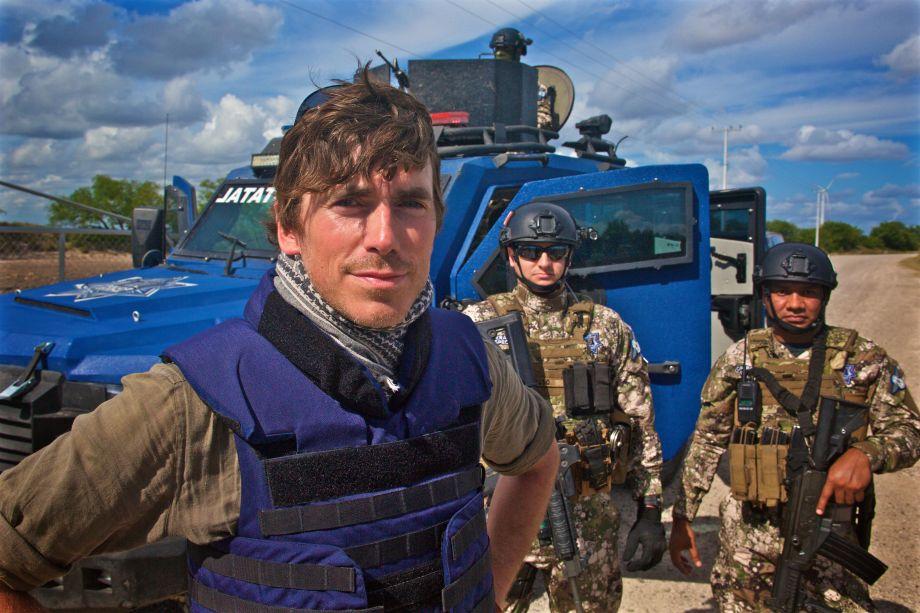 Simon with border patrol guards