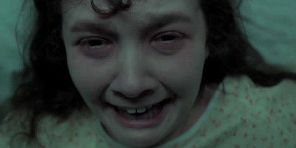 Young girl screaming in an asylum in Slender Man