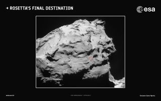 Rosetta Probe's Comet Landing Site