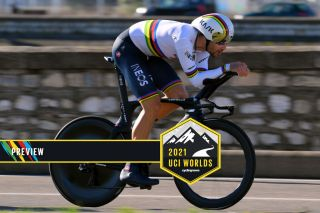 Filippo Ganna of Italy (Ineos Grenadiers) will defend his world title in the time trial in Flanders