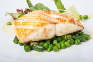 peas and salmon