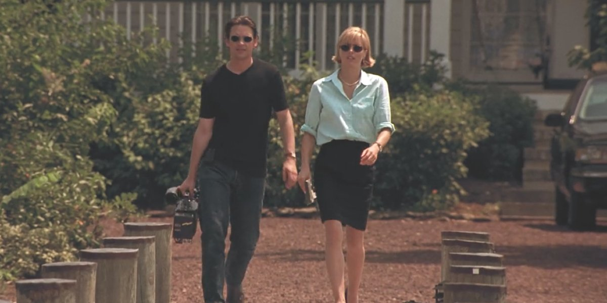 Dougray Scott and Téa Leoni in Deep Impact