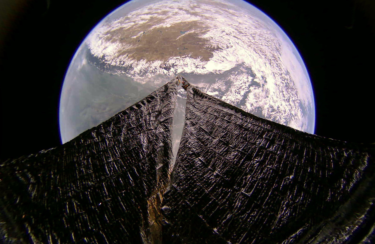 A LightSail 2 image shows the Himalayas, Tibet and India on Jan. 31, 2020.