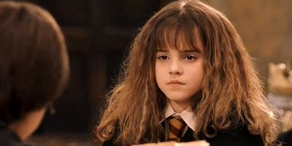 Emma Watson as Hermione in Harry Potter and the Sorcerer's Stone