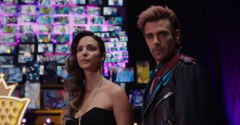 """Tala Ashe and Matt Ryan as Zari and Constantine in Legends of Tomorrow """"The Ex-Factor"""""""