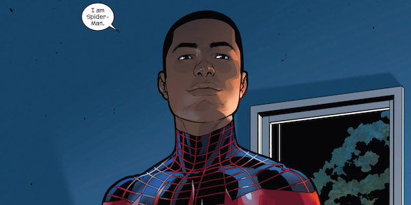 Miles Morales declaring he is Spider-Man
