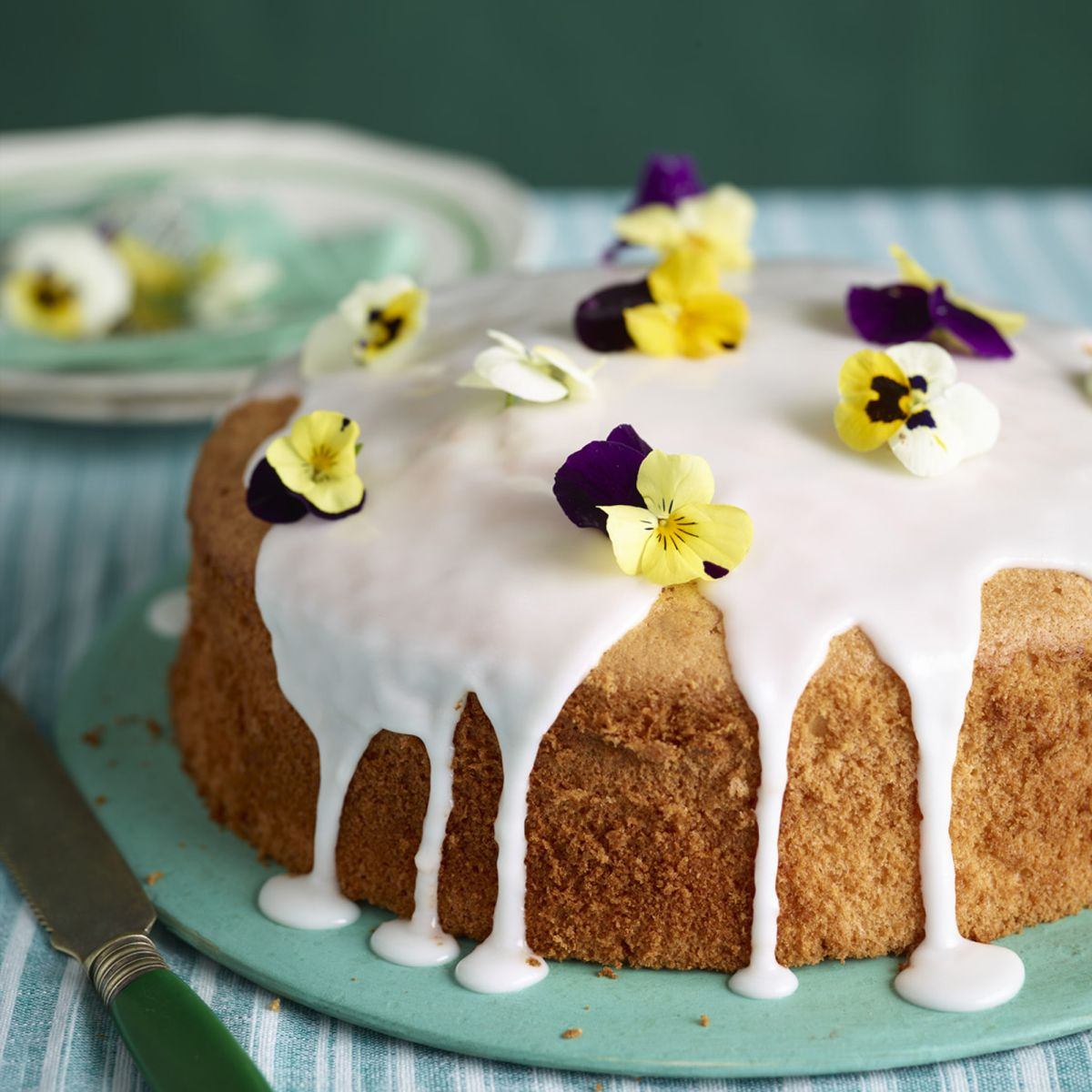This lemon chiffon cake is super light and lovely