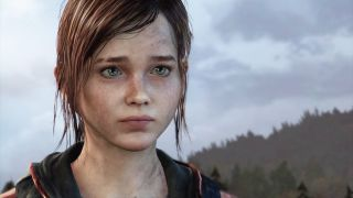 Close up on the face of Ellie from The Last of Us