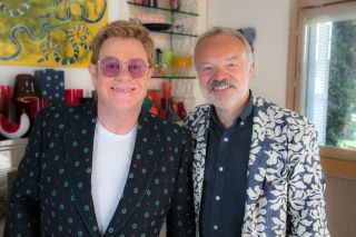 Elton John with Graham Norton for Elton John: Uncensored