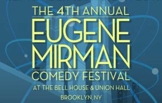 Logo of the Eugene Mirman Comedy Festival.