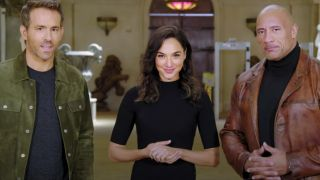 Ryan Reynolds, Gal Gadot, and Dwayne Johnson for Netflix's Red Alert