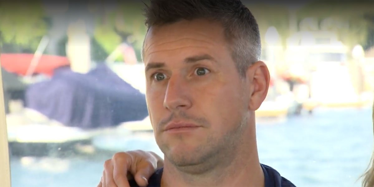 Screenshot of Ant Anstead looking shocked at something Christina Anstead said