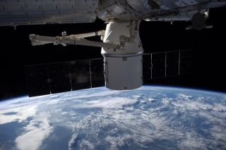SpaceX's Dragon at the ISS, September 2014