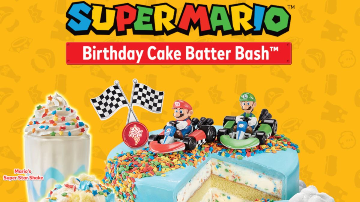 Mario gets an official Rainbow Road cake for his 35th birthday