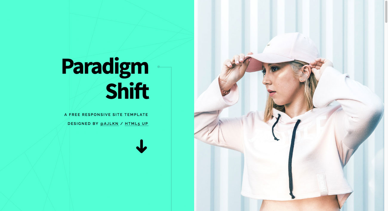 The 10 best HTML5 template designs: Paradigm Shift