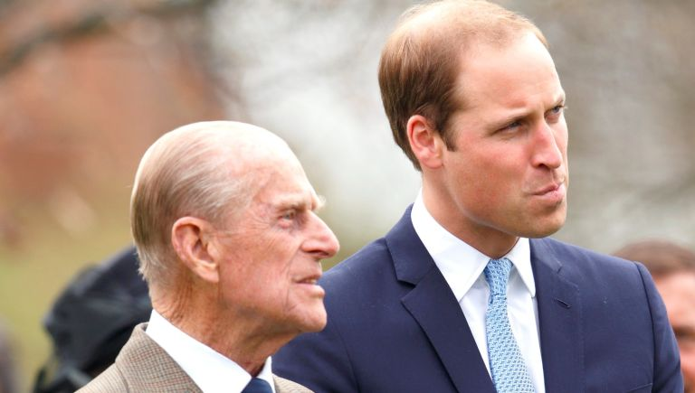 Prince Philip, Duke of Edinburgh and Prince William, Duke of Cambridge attend the Windsor Greys Statue unveiling on March 31, 2014 in Windsor, England. The statue marks 60 years of The Queen's Coronation in 2013 and the important role played by Windsor Greys in the ceremonial life of the Royal Family and the Nation.
