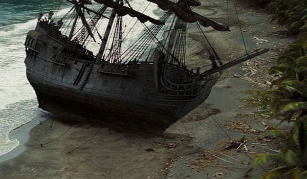 beached pirate ship pirates of the caribbean