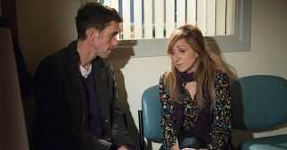At the hospital, Marlon Dingle's shocked at the state of Ashley Thomas as Laurel Thomas explains the damage from the TIA might be permanent. Marlon comforts Laurel but confused Ashley sees and angrily accuses them of having an affair in Emmerdale.