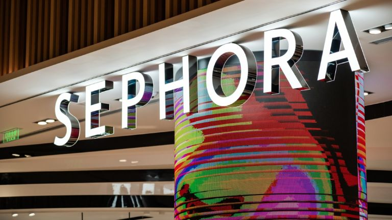 A French multinational chain of personal care and beauty stores Sephora outlet and logo seen in Shenzhen