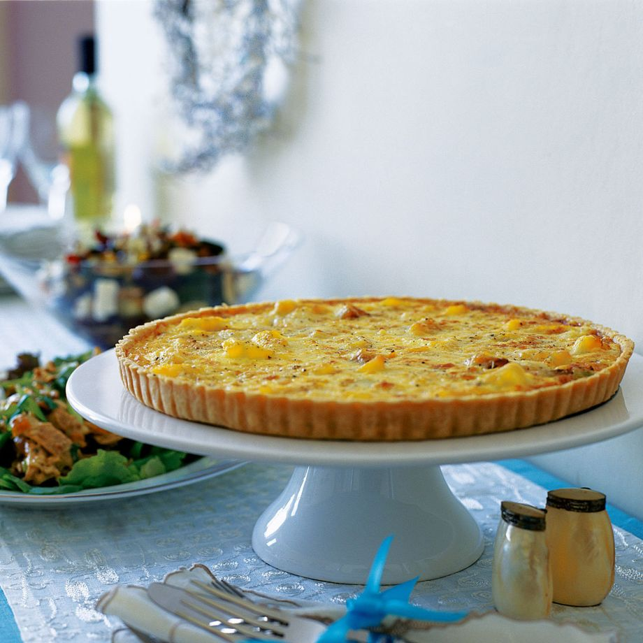 Smoked Haddock, Gruyère and Saffron Tart Recipe