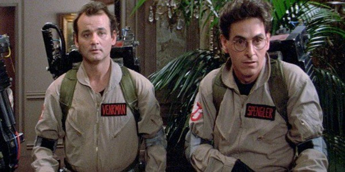 Harold Ramis and Bill Murray in Ghostbusters