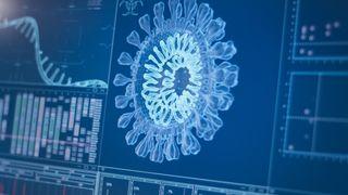 Coronavirus model on computer.